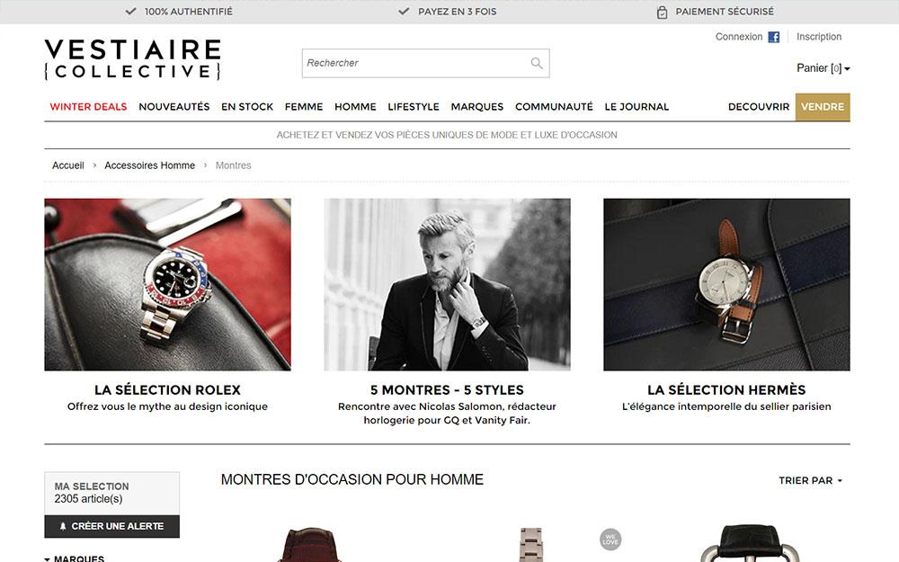 Vestiaire Collective, Shoppez votre montre de luxe d'occasion en ligne